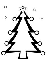 Imprimer le coloriage : Sapin de Noël, numéro 44785