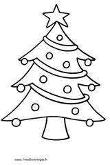 Imprimer le coloriage : Sapin de Noël, numéro 50889