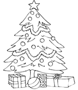 Imprimer le coloriage : Sapin de Noël, numéro 629009
