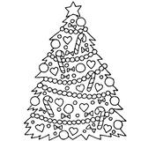 Imprimer le coloriage : Sapin de Noël, numéro 66575