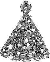 Imprimer le coloriage : Sapin de Noël, numéro 673488