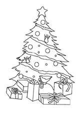 Imprimer le coloriage : Sapin de Noël, numéro a1c215c8