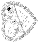 Imprimer le coloriage : Saint-Valentin, numéro 128319