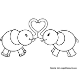 Imprimer le coloriage : Saint-Valentin, numéro 7904