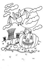 Imprimer le coloriage : Toussaint, numéro 29557