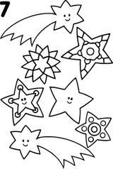 Imprimer le coloriage : Etoile filante, numéro 42794ebc