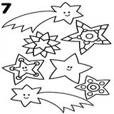 Imprimer le coloriage : Etoile filante, numéro 8a59f2f5