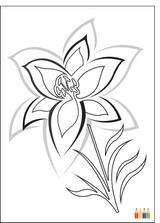 Imprimer le coloriage : Fleurs, numéro 1145