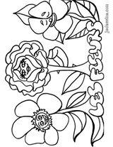 Imprimer le coloriage : Fleurs, numéro 129167