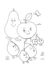 Imprimer le dessin en couleurs : Fruits, numéro 476727