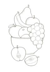 Imprimer le dessin en couleurs : Fruits, numéro 476733