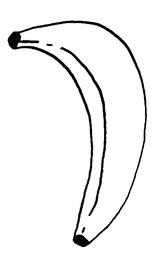 Imprimer le coloriage : Banane, numéro 130707