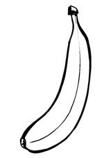 Imprimer le coloriage : Banane numéro 24148