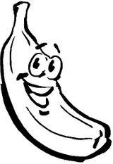 Imprimer le coloriage : Banane numéro 25915