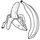Imprimer le coloriage : Banane, numéro 25916