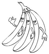 Imprimer le coloriage : Banane, numéro 25922