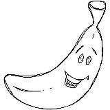 Imprimer le coloriage : Banane, numéro 676965
