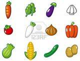Imprimer le dessin en couleurs : Légumes, numéro 73644