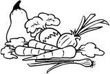 Imprimer le coloriage : Légumes, numéro 8172