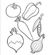Imprimer le coloriage : Légumes, numéro 8173