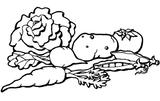 Imprimer le coloriage : Légumes, numéro 8174