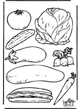 Imprimer le coloriage : Légumes, numéro 8196