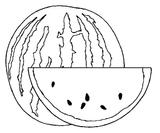 Imprimer le coloriage : Pastèque, numéro 24440
