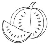 Imprimer le coloriage : Pastèque, numéro 469367