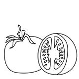 Imprimer le coloriage : Tomate, numéro 24424