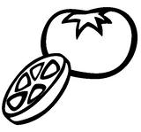 Imprimer le coloriage : Tomate, numéro 24425