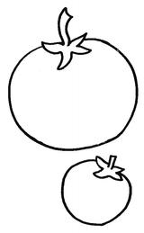 Imprimer le coloriage : Tomate, numéro 56625