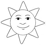 Imprimer le coloriage : Soleil, numéro 128776