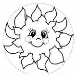 Imprimer le coloriage : Soleil, numéro 17043