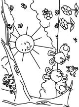 Imprimer le coloriage : Soleil, numéro 17047