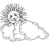 Imprimer le coloriage : Soleil, numéro 17051