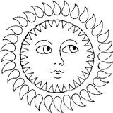 Imprimer le coloriage : Soleil, numéro 3528