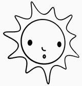 Imprimer le coloriage : Soleil, numéro 3530
