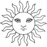 Imprimer le coloriage : Soleil, numéro 3531