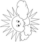Imprimer le coloriage : Soleil, numéro 3532