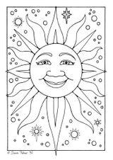 Imprimer le coloriage : Soleil, numéro 3533