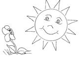 Imprimer le coloriage : Soleil, numéro 3534