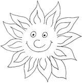 Imprimer le coloriage : Soleil, numéro 3545
