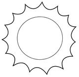 Imprimer le coloriage : Soleil, numéro 3547