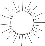 Imprimer le coloriage : Soleil, numéro 5337
