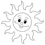 Imprimer le coloriage : Soleil, numéro 671