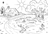 Imprimer le coloriage : Soleil, numéro 677