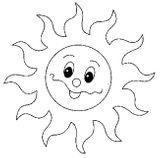 Imprimer le coloriage : Soleil, numéro 7239