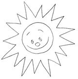 Imprimer le coloriage : Soleil, numéro 7240