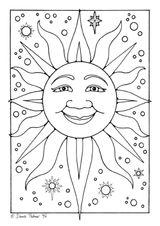 Imprimer le coloriage : Soleil, numéro 7242