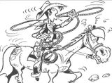 Imprimer le coloriage : Lucky Luke, numéro 12977